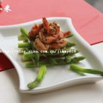 蘆筍黑椒蝦球的做法