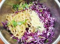 紫甘藍拌豆腐絲的做法圖解3