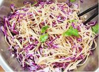 紫甘藍拌豆腐絲的做法圖解4