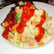 奶香茄汁義麵