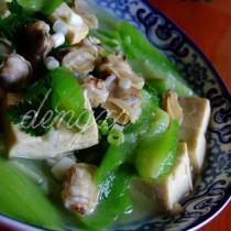 絲瓜文蛤豆腐湯