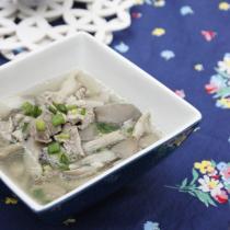 平菇肉片湯的做法
