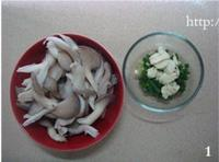 平菇肉片湯的做法圖解1