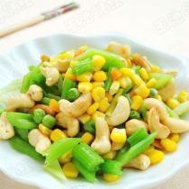 腰果玉米的做法