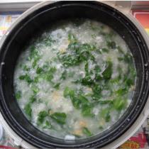 芥菜咸蛋粥