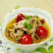 酸菜肉片湯的做法