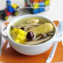 茶樹菇玉米雞湯的做法