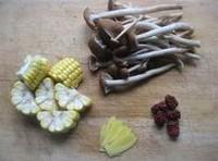 茶樹菇玉米雞湯的做法圖解1