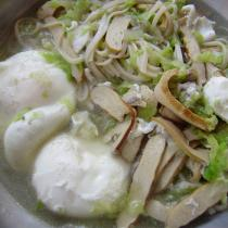 白菜豆乾湯麵