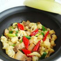 乾煸菜花五花肉的做法