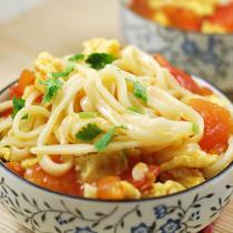 番茄雞蛋拌麵的做法