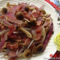 培根洋蔥蘑菇的做法