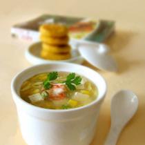 蝦仁玉米豆腐湯