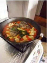 三文魚頭豆腐湯的做法圖解10