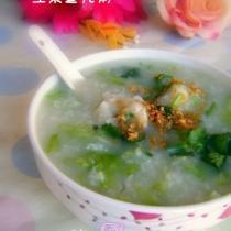 生菜魚丸粥