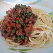 長豆角肉醬義麵