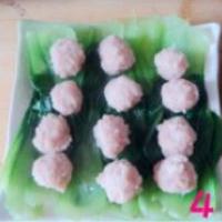 肉丸油菜的做法圖解4