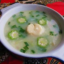 新鮮帶子麵疙瘩湯