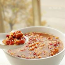 核桃紅豆粥