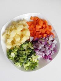 咖喱雜蔬的做法圖解1