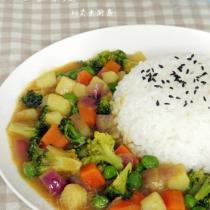 咖喱雜蔬的做法