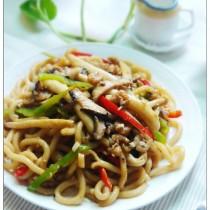 蝦乾鮮菇炒烏冬麵