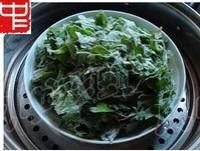 粉蒸芹菜葉的做法圖解2