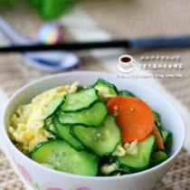 黃瓜炒雞蛋的做法