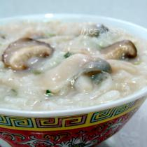 香菇魚片粥