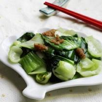 豬油渣炒青菜的做法