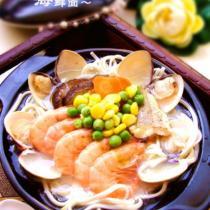 黃魚濃汁海鮮麵