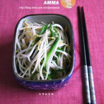 豆芽韭菜根的做法