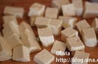 肉末香菇豆腐的做法圖解1