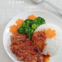 泡菜雞腿飯的做法