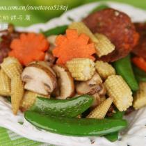 薩拉米炒鮮蔬的做法