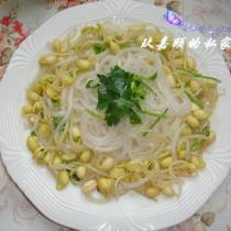 黃豆芽涼拌粉條的做法