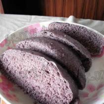 黑米麵饅頭