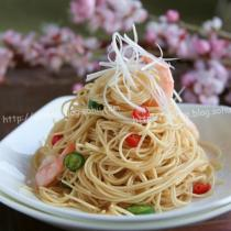 鮮蝦蠔油梘麵