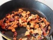 毛豆臘肉炒豆乾的做法圖解5