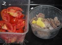 番茄牛肉粉絲湯的做法圖解2