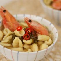 北極甜蝦酸菜雜糧貓耳麵