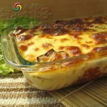 蘑菇焗義麵