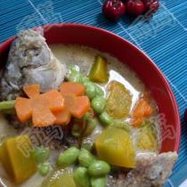南瓜毛豆鯽魚湯