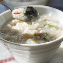 鮮貝香菇粥
