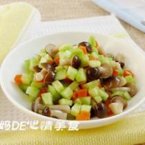 溫拌黃瓜蟹味菇的做法