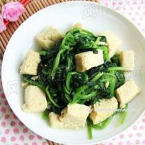 菠菜燉凍豆腐的做法