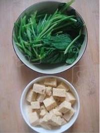 菠菜燉凍豆腐的做法圖解1