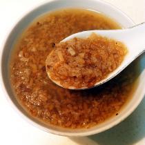 紅糖炒米湯