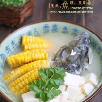 玉米魚頭豆腐湯