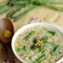 桂花蘆筍糙米粥